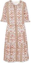 Tory Burch Serena Printed Silk Dress - Beige