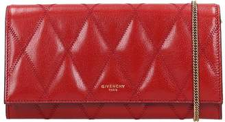 Givenchy Gv3-chain Walle Clutch In Red Leather