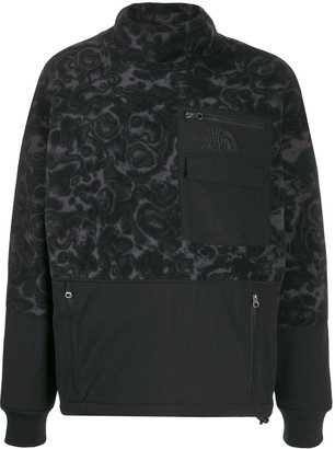 The North Face floral patterned fleece sweatshirt