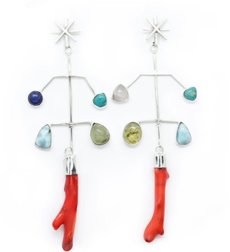 Fábrega Jewelry One Of A Kind Silver Capira Mobile Star Earrings
