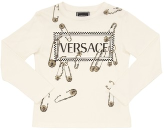 Versace Printed L/s Cotton Jersey T-shirt