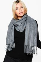 Boohoo Lucia Pinstripe Oversized Blanket Scarf