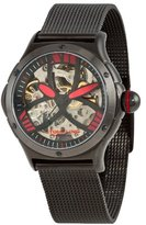 Stuhrling Original Women's 5AT.115964 Champion Alpine Slalom Automatic Skeleton Black Mesh Bracelet Watch