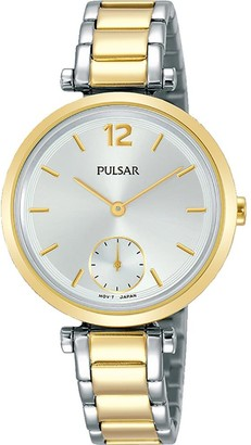 Pulsar Women's Analogue Analog Quartz Watch with Stainless Steel Strap PN4064X1
