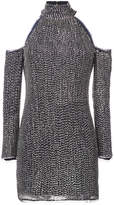 Rachel Zoe cold shoulder sequin dress