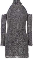 Rachel Zoe cold shoulder sequin dress