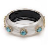 Alexis Bittar Liquid Silk and Stone Hinge Bracelet
