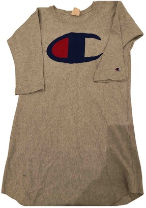 Champion Grey Cotton Dress for Women