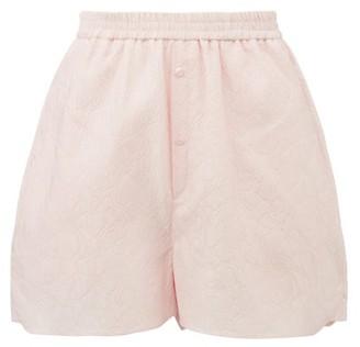 Cecilie Bahnsen Nivi Floral-cloque Shorts - Pink