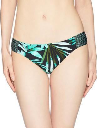 Jantzen Women's Leafy Tropical Tab Side Bikini Bottom