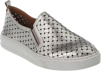 French Sole Brussels Metallic Leather Sneaker