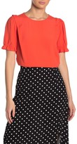 Elodie K Cinched Short Sleeve Crew Neck Blouse