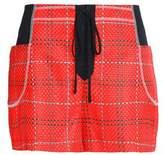 3.1 Phillip Lim Twill-Paneled Tweed Shorts