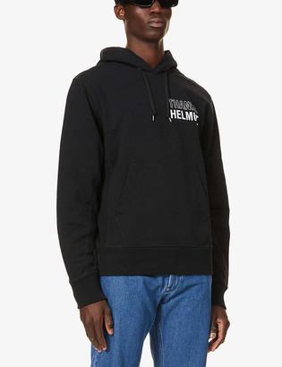 Helmut Lang Text-print cotton-jersey drawstring hoody