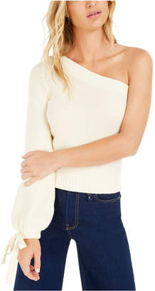 Bar III Becca Tilley x One-Shoulder Volume Sleeve Sweater