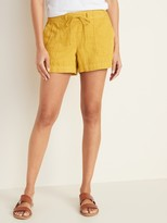 Old Navy Relaxed Mid-Rise Soft Shorts for Women - 4-inch inseam