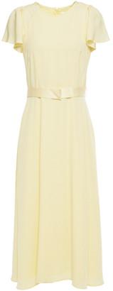 Goat Jewel Belted Satin-crepe Midi Dress