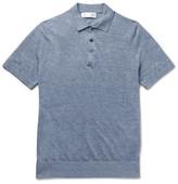 Brunello Cucinelli Slim-Fit Mélange Linen and Cotton-Blend Polo Shirt