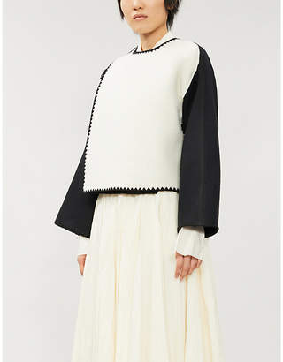 Jil Sander Contrast-panel wool jacket