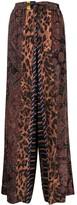 Thumbnail for your product : Pierre Louis Mascia Patchwork-Print Wide-Leg Trousers