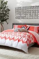 Trina Turk Hollyhock Ikat Comforter & Sham Set - Coral/White