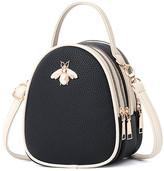 Ella & Elly Women's Handbags Black - Black Bee-Accent Crossbody Bag