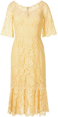 Dolce & Gabbana Lace Calf-Length Dress