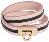 Salvatore Ferragamo Double Strap Leather Bracelet