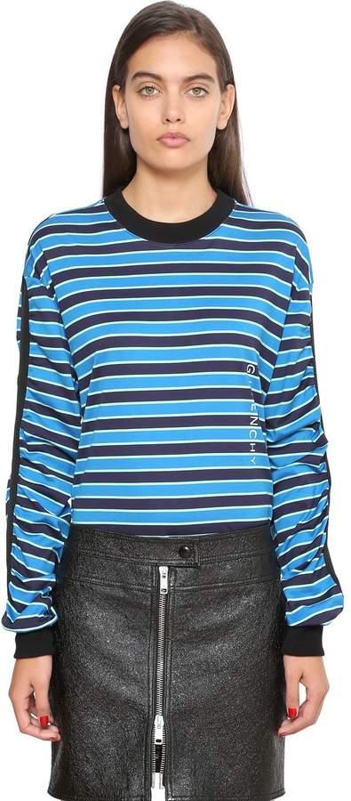 Givenchy Striped Cotton Jersey Sweatshirt
