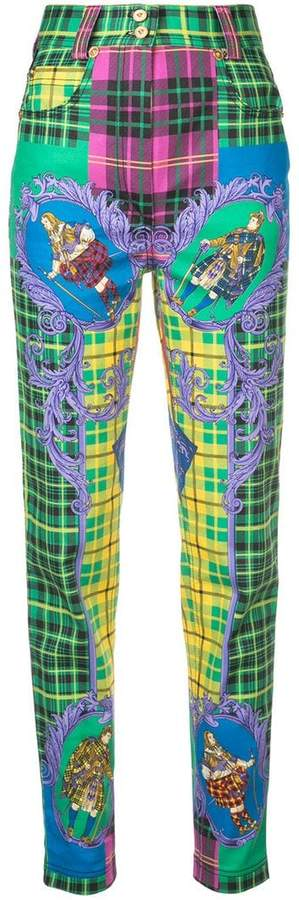Versace printed slim fit jeans