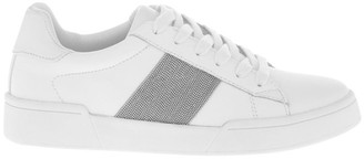 Piper Lex White Sneaker with Chain Detailing