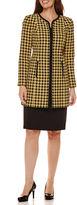 R & K Originals R&K Originals Houndstooth Long Jacket with Solid Skirt Suit