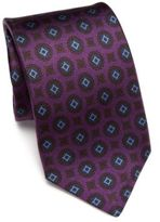 Kiton Medallion Printed Silk Tie