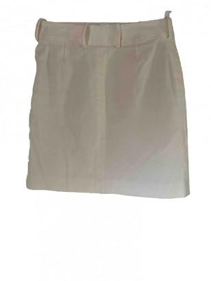 Celine White Cotton - elasthane Skirt for Women