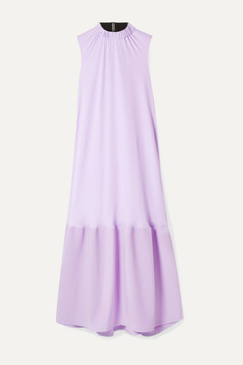 Tibi Draped Crepe And Cady Midi Dress - Lilac