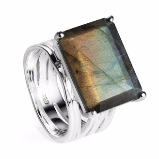 Neola Pietra Sterling Silver Cocktail Ring With Labradorite