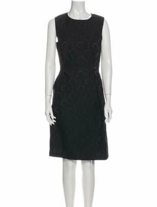 St. John Patterned Knee-Length Dress Black