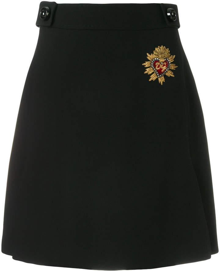 Dolce & Gabbana crest detail skirt