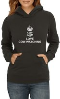 Idakoos - Keep calm and love Cow Watching - Hobbies - Women Hoodie