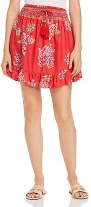 Tiare Hawaii Lily Rose Floral-Print Mini Skirt