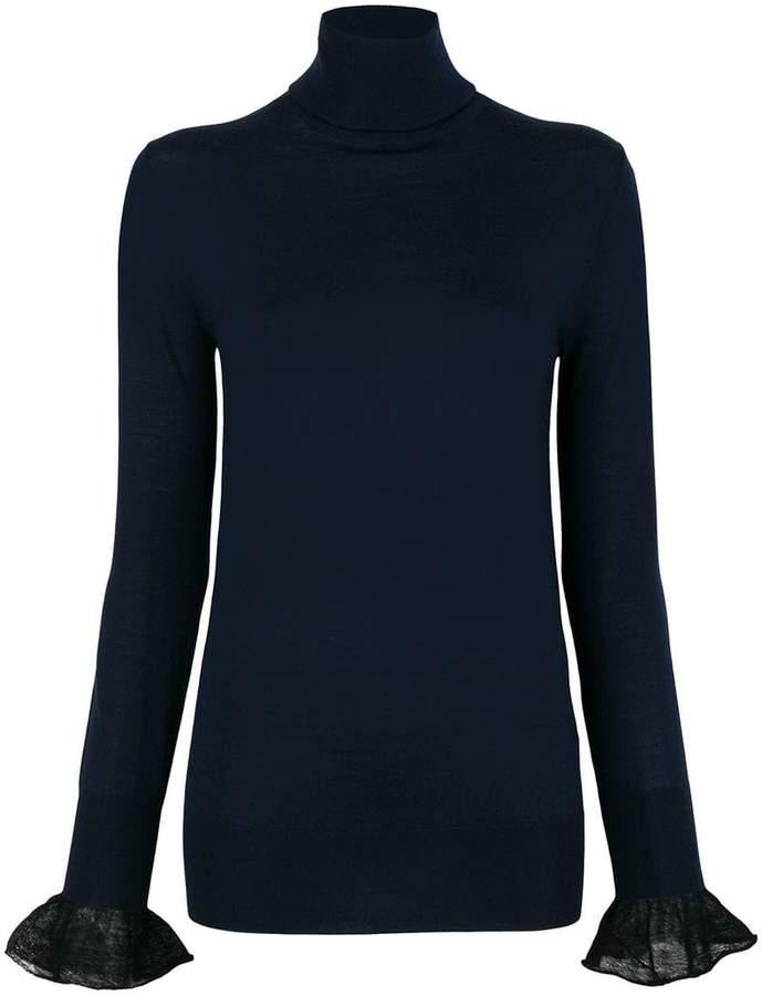 Sacai frill cuff turtleneck sweater