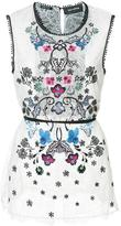 Yigal Azrouel floral embroidered top - women - Nylon - 2