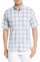 Tailorbyrd Men's Monterey Regular Fit Short Sleeve Plaid Sport Shirt