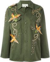 Night Market - birds studded jacket - women - Cotton/Polyester/metal/glass - One Size