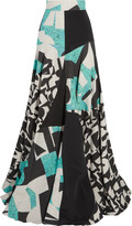 Roksanda Maclise printed linen, cotton and silk-blend canvas and jersey maxi skirt