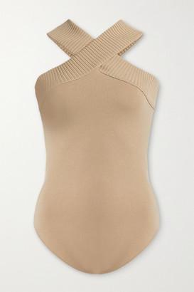 ZEYNEP ARCAY Stretch-knit Bodysuit - Beige