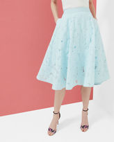 Ted Baker Burn out floral Aline skirt