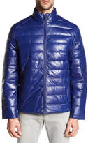 Campaign Black Genuine Leather Puffer Jacket
