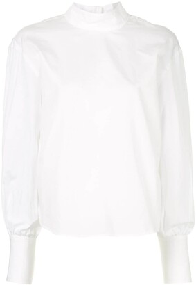 CK Calvin Klein Long-Sleeve Poplin Top
