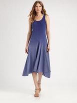 Eileen Fisher Silk Dropped-Waist Dress